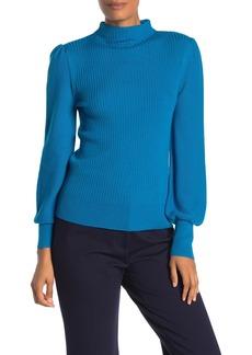 Trina Turk Tom Collins Wool Knit Mock Neck Sweater
