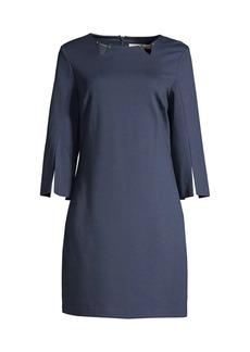 Trina Turk Trekking Slit-Sleeve Dress