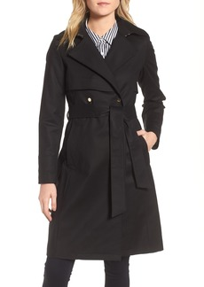 trina Trina Turk Brystl Gun Flap Trench Coat (Regular & Petite)
