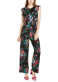 Trina Trina Turk Floral-Print Ruffled Jumpsuit