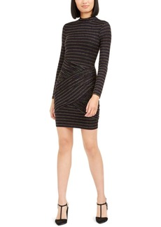 Trina Trina Turk Golden Metallic-Stripe Bodycon Dress