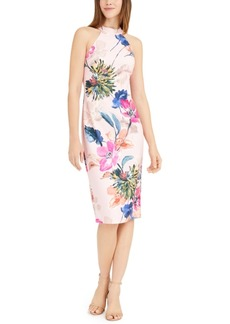 Trina Trina Turk High-Neck Floral Sheath Dress