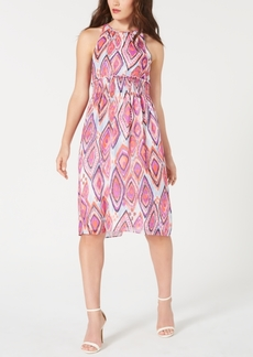 Trina Trina Turk Printed Smocked Midi Dress