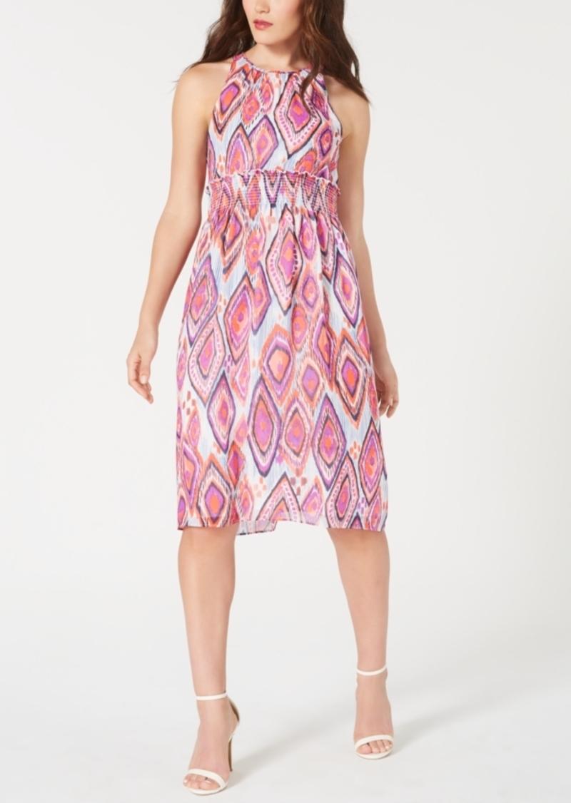 Trina Trina Turk Printed Smocked Midi Dress