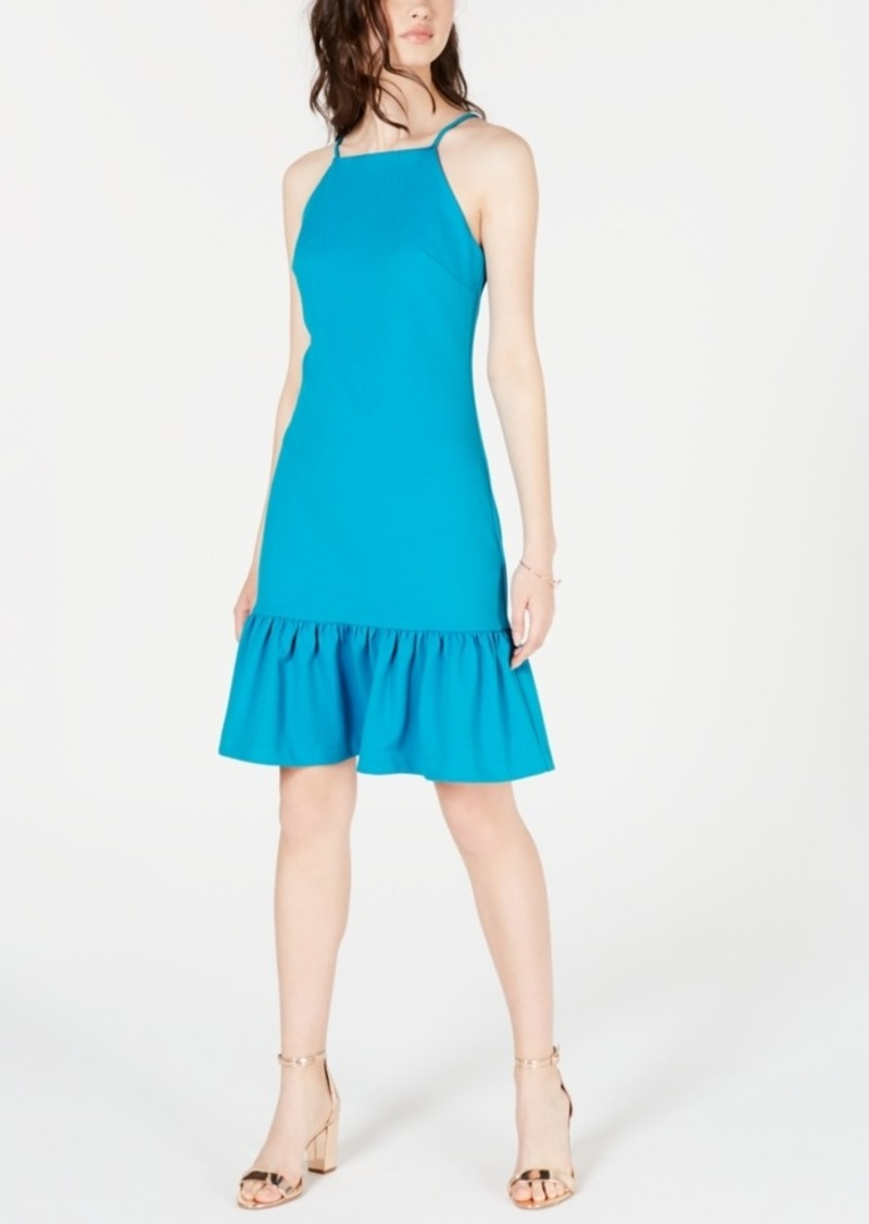 Trina Trina Turk Ruffled Drop-Waist Dress