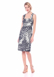 Trina Trina Turk Women's Approval Square Neck Midi Dress