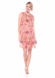 Trina Trina Turk Women's Babs Sleeveless Drop Founce Dress