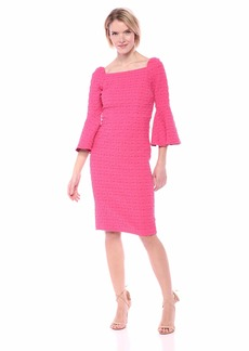 Trina Trina Turk Women's Favor Square Neck Bell Sleeve Dress