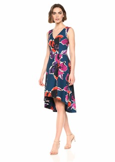 Trina Trina Turk Women's Fitzgerald Sleeveless High Low Dress