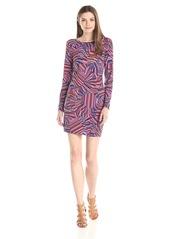 Trina Trina Turk Women's Lewis Rainbow Floral Matte Jersey Long-Sleeve Dress
