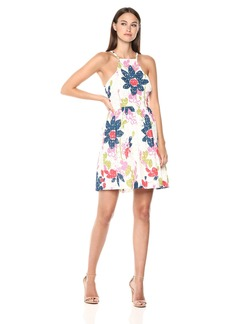 Trina Trina Turk Women's Petaluma Fit and Flare Dress