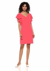 Trina Trina Turk Women's Traverse Ruffle Sleeve Dress