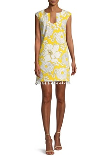 Trina Turk Always Sunny Lura Tassel-Trim Mini Dress