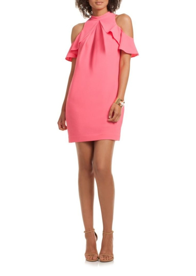 Trina Turk Amado Cold-Shoulder Crepe Dress