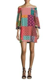 Trina Turk Amaris Off-the-Shoulder Patterned Dress