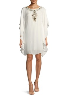 Trina Turk Anissa Double-Georgette Kaftan Dress