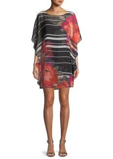 Trina Turk Anissa Horizon Bloom Chiffon Kaftan Dress