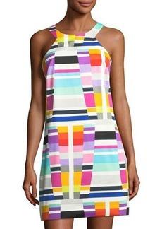 Trina Turk Aptos Geometric-Print Shift Dress