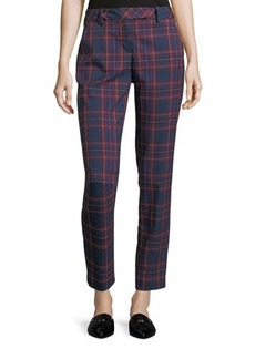 Trina Turk Aubree Plaid Cropped Pants