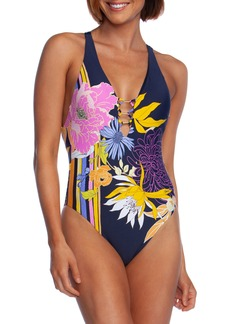 Trina Turk Bal Harbour V-Plunge One-Piece Swimsuit