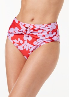Trina Turk Bali Blossoms Printed High-Waist Bikini Bottoms Women's Swimsuit