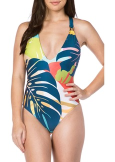 Trina Turk Banana Leaf One-Piece Swimsuit