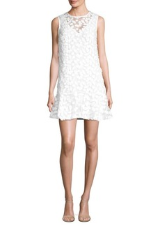 Trina Turk Embroidered Lace Sleeveless Sheer Dress