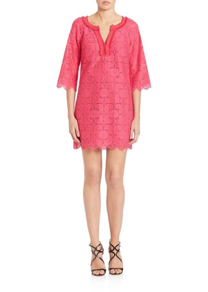 Trina Turk Bell Sleeve Lace Dress
