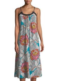 Trina Turk Bluebell Sleeveless Floral Midi Dress