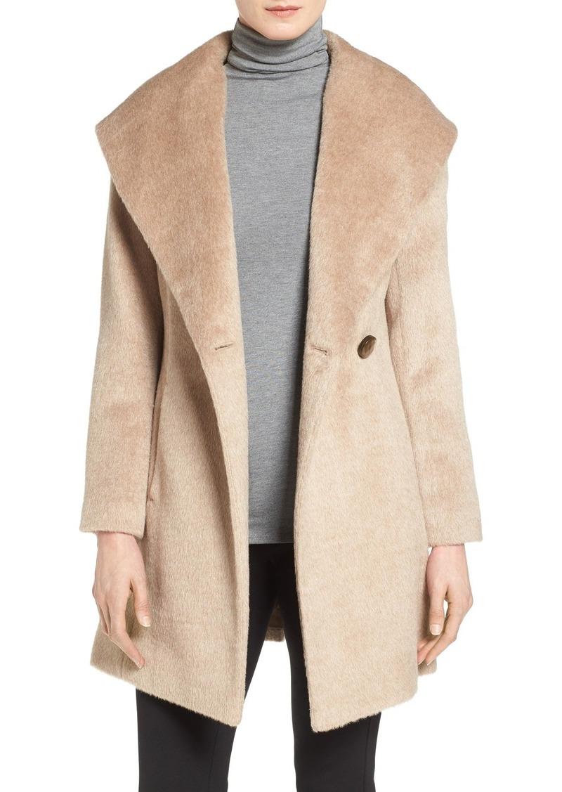 Trina Turk 'Bonnie' Shawl Collar Skirted Coat (Regular & Petite)