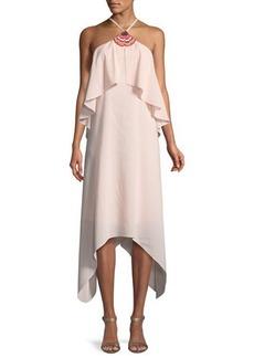 Trina Turk Botanical Handkerchief-Hem Dress