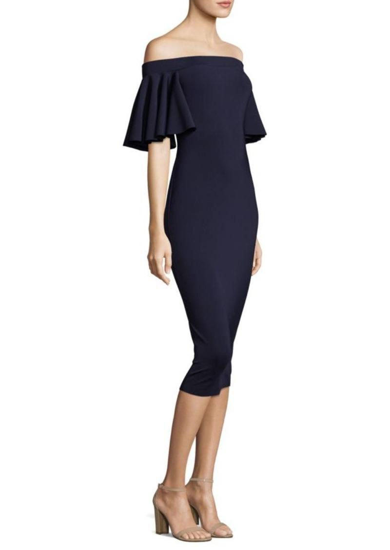Trina Turk Butterfly-Sleeve Off-The-Shoulder Dress | Dresses
