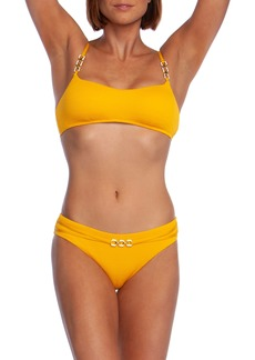 Trina Turk Cabana Belted Hipster Bikini Bottoms