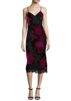 Trina Turk Cabaret Sleeveless Floral Midi Dress
