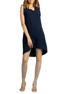 Trina Turk Carmel Crepe Sleeveless Shift Dress