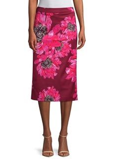 Trina Turk Casa Mexico Yucatan Floral Midi Skirt