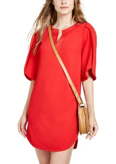 Trina Turk Clairette Tulip-Sleeve Shift Dress