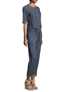 Clovis Denim Button-Up Jumpsuit
