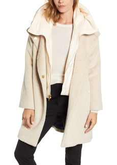 Trina Turk Coat with Hooded Bib