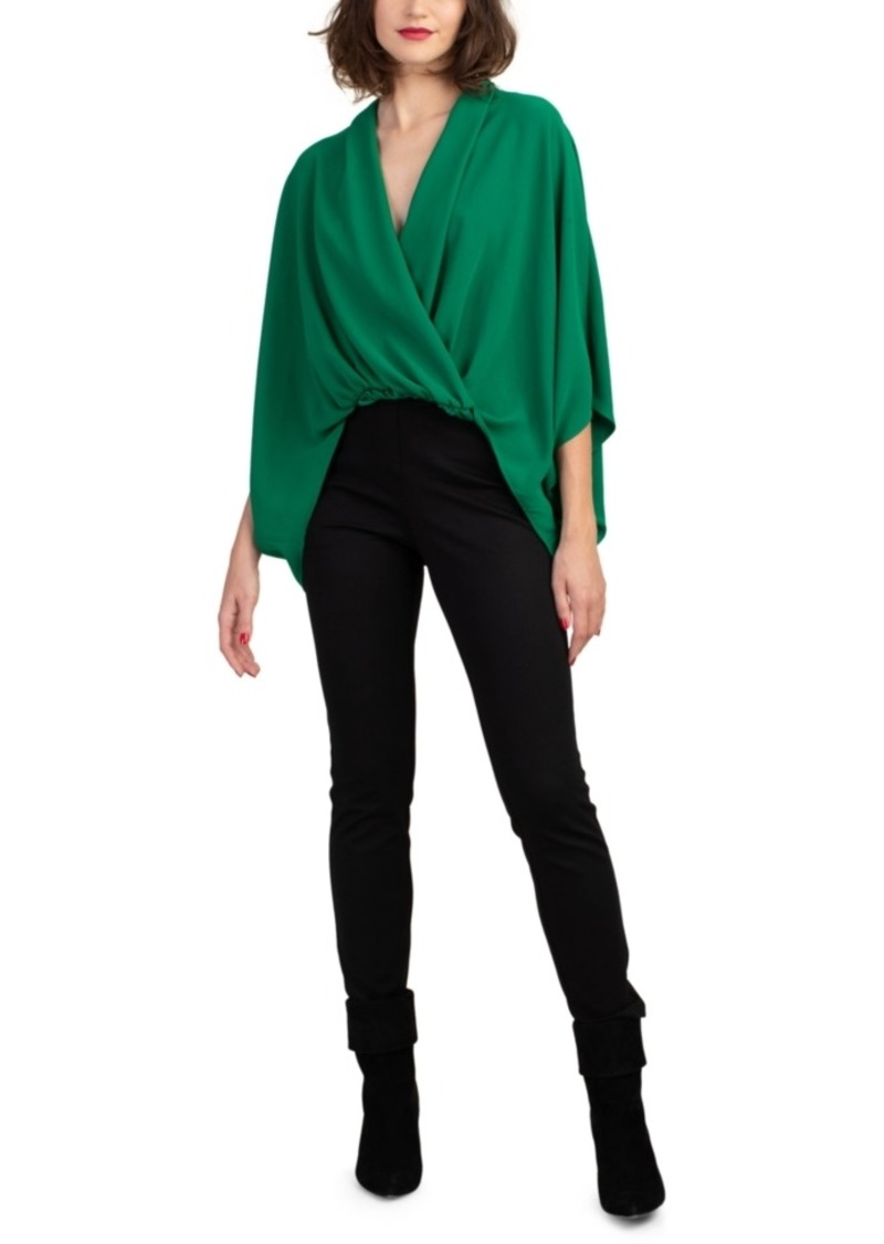 Trina Turk Concourse Draped High-Low Top