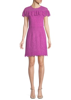 Trina Turk Copper Flower Field Lace Mini Dress