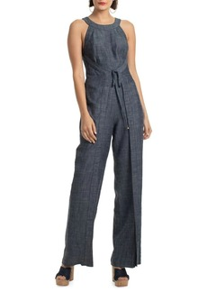 Trina Turk Crosshatch Chambray Hewett Jumpsuit