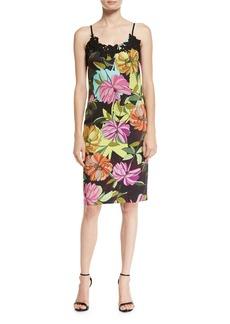 Trina Turk Dahlia Dell Sleeveless Floral-Print Slip Dress