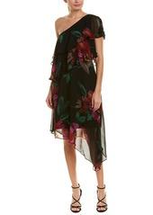 Trina Turk Dancer Silk A-Line Dress