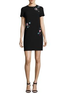 Trina Turk Dazzle Embellished Crepe Shift Dress