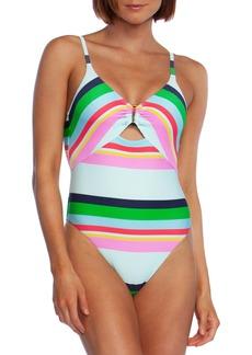 Trina Turk Deco Stripe One-Piece Swimsuit