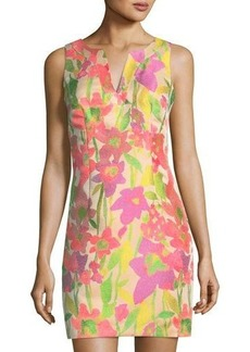 Trina Turk Delmi Floral-Print Shift Dress