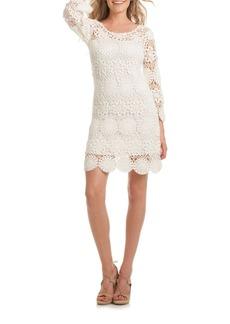 Trina Turk Devora Crocheted Sheath Dress