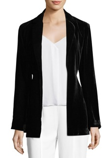 Trina Turk Draped Velvet Bell-Sleeve Smoking Jacket