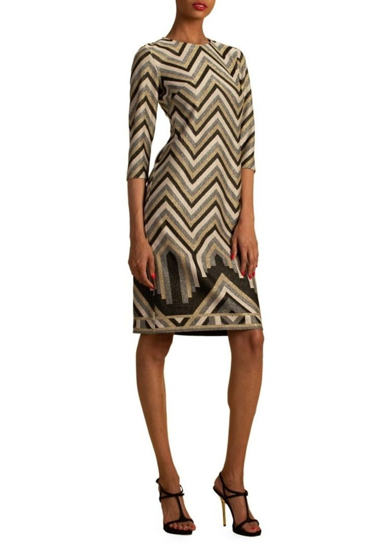 Trina Turk Eastern Luxe Becket Chevron Dress